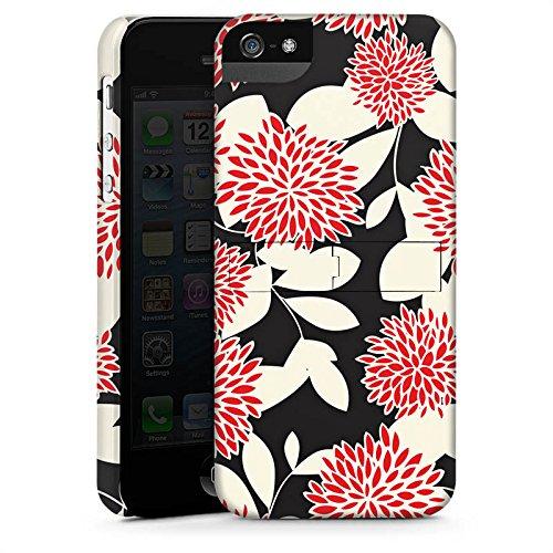 Apple iPhone X Silikon Hülle Case Schutzhülle Blumen Ornamente Muster Premium Case StandUp