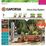 GARDENA Start Set Pflanztöpfe M automatic: Das praktische Micro-Drip-System Starterset mit Bewässerungscomputer für 7 Töpfe und 3 Tröge (13002-20)