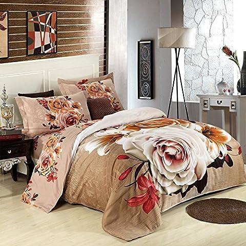 LLYY-Algodón d Stereo impreso algodón tela cruzada cuatro set actividad 1.8m2.0 cama colcha cubierta boda productos textil hogar , picture 1 , 250*250CM