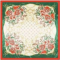 GUOSO Style Chinois Dot Fleur Imprimé Foulard Carré en Soie Châle 90 X 90Cm  Foulards en 4499e8ff09c