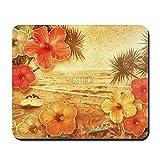 CafePress–Tropical vintage Beach Tapis de souris–en caoutchouc antidérapant Tapis de souris, Gaming Mouse Pad