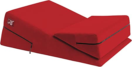 Liberator Wedge/Ramp Combo - Intimate Positioning Pillows - Red