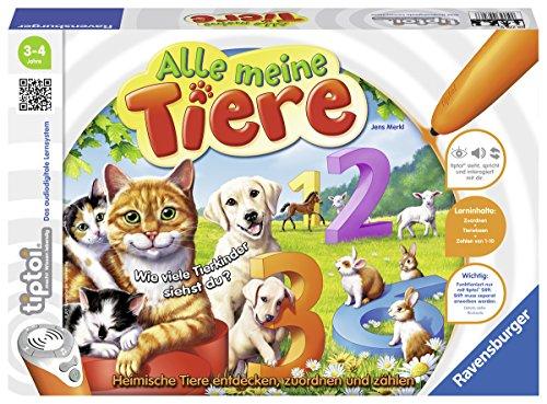 Preisvergleich Produktbild Ravensburger tiptoi Alle meine Tiere - 00776 / Lerne spielerisch die Zahlen von 1 bis 10 mithilfe heimischer Tiere