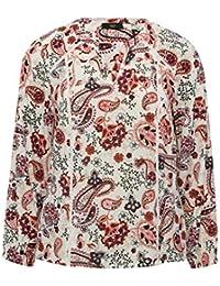 a84a8d24507 M Co Ladies Petite Long Sleeve Notch Neck Floral Paisley Print Shirt
