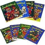 8 Zauberblöckchen im Set - Weihnachten (A8 -7,5x5,2cm) - 8 Motive - Lutz Mauder
