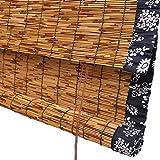 WENZHE Bambusrollo Fenster Sichtschutz Rollos Holzrollo Bambus Raffrollo Schilf Stroh Kann Heben Schatten Abgeschnitten Zuhause Hängende Verzierung Retro, 4 Stile, 17 Größen Wahlweise