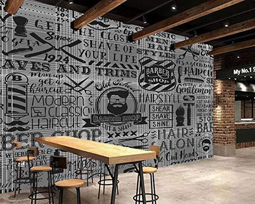 YSDECOR Mural 3D Personalizado Papel Pintado Vintage Elementos De Barbería Para La Pared De La Peluquería Sofá Papel De La Pared De La Sala