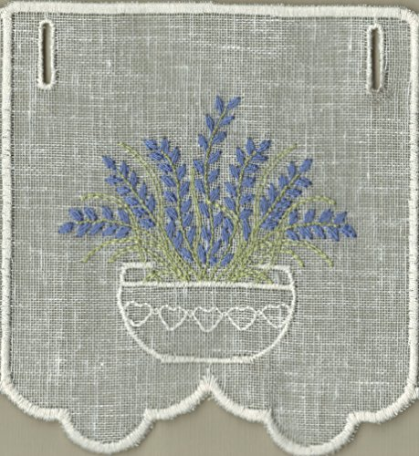 Affreschi tessili mantovana tirolese ricamo lavanda