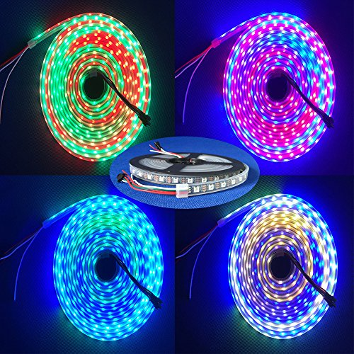 Amazon.co.uk - 4m 5V 60Leds/m 240pixels programmable WS2812B RGB 5050 LED strip Individually addressable Waterproof