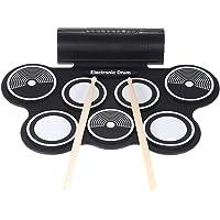 ammoon Portable Pliable Silicone Batterie électronique Trousse de Numérique USB MIDI Enroulement avec Baguette de Tambour Pédale 3,5 mm Audio Câble