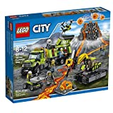 LEGO City Volcano Explorers 60124 Volcano Exploration Base Building Kit (824 Piece) by LEGO