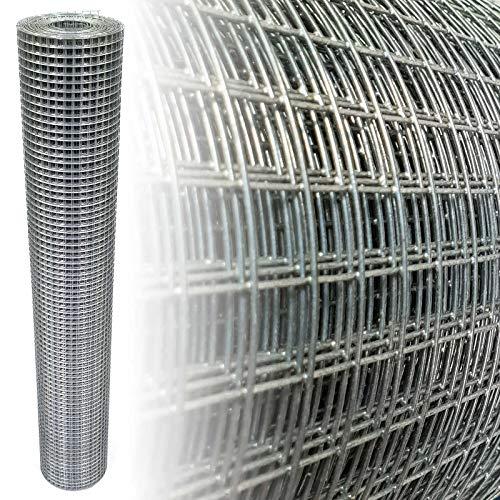 Volierendraht Verzinkt 12x12mm 4-Eck Maschendraht Drahtgitter (100cm x 25m, 1,00mm dick)
