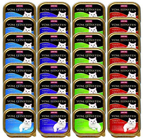 Animonda vom Feinsten Adult Katzenfutter, Feuchtfutter für Katzen von 1-6 Jahren, Fisch & Fleisch Mix, 32 x 100g