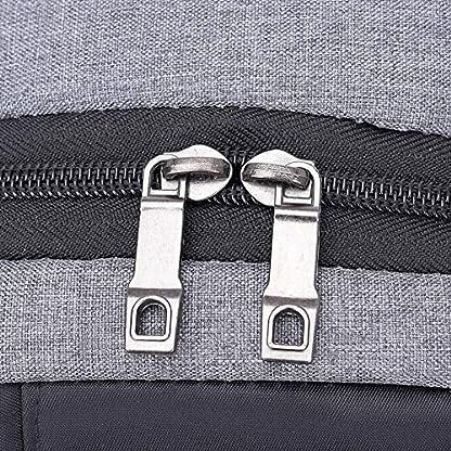 BEIBAO Ropa de Vela USB recargar Bolsa de Pechos Hombre Llevar Mochila de Negocios recreación Defensa contra el Agua Viaje Solo Hombro Mochila(Gris Oscuro)