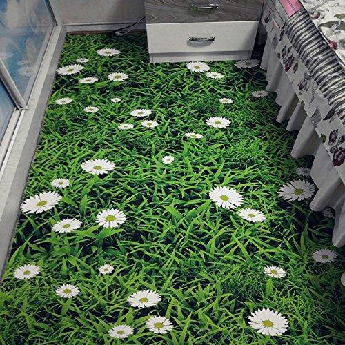 WXDD Fußmatten Moderner 3D-Cartoon-Kinderteppich, Wohnzimmersofa, Teetischmatte, Haushaltsschlafzimmer, Bettdecke, individuelle Bettwäsche, 100 x 160 cm [Tischdecke], Grünes Gras - Grüne Bettdecken