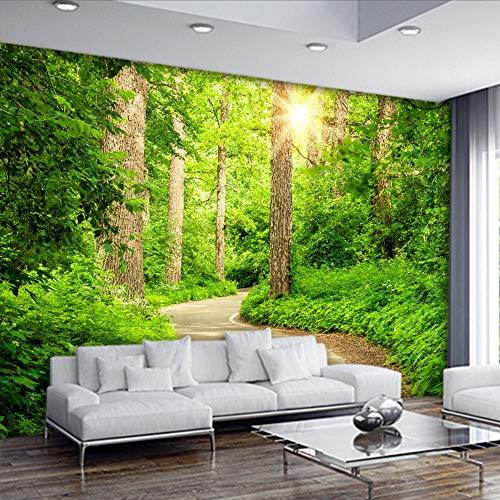 Ytdzsw Tapete 3D 3D Stereo Baumpfad Landschaft Tapeten Wohnzimmer Sofa Tv Hintergrund Mural Modernes Schlafzimmer Nachttisch Tapete-140X100Cm