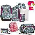 Ergobag Pack ZauBärwald Schulrucksack-Set 6tlg + Sporttasche + Brustbeutel + Regenhaube Pink + Sicherheitsset Pink