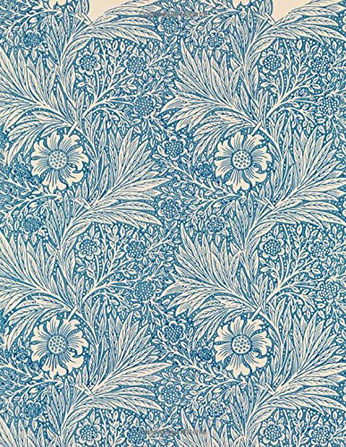 Marigold, William Morris.  Blank journal: 160 blank pages, 8,5x11 inch (21.59 x 27.94 cm) Soft cover / Paperback