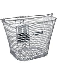 Basil Basimply EC - Cesta para bicicleta, color plata, tamaño talla única