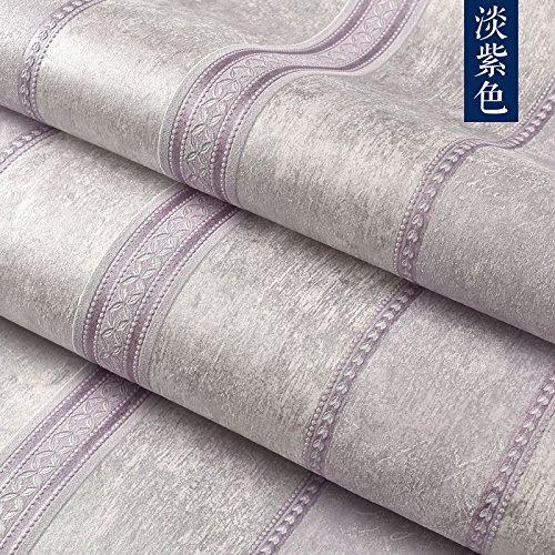 ockung geprägte Tapeten Rollen modernen minimalistischen Non-Woven Wohnzimmer Schlafzimmer, Mottling lila Streifen ()