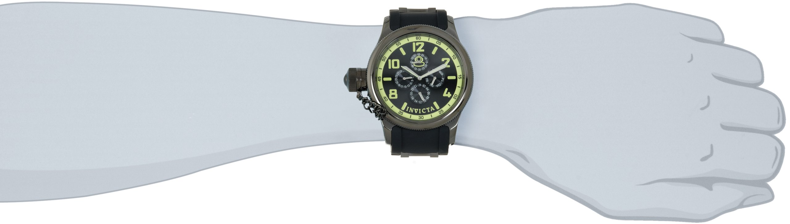 Invicta Russian Diver Analog Black Dial Men's Watch – 1805