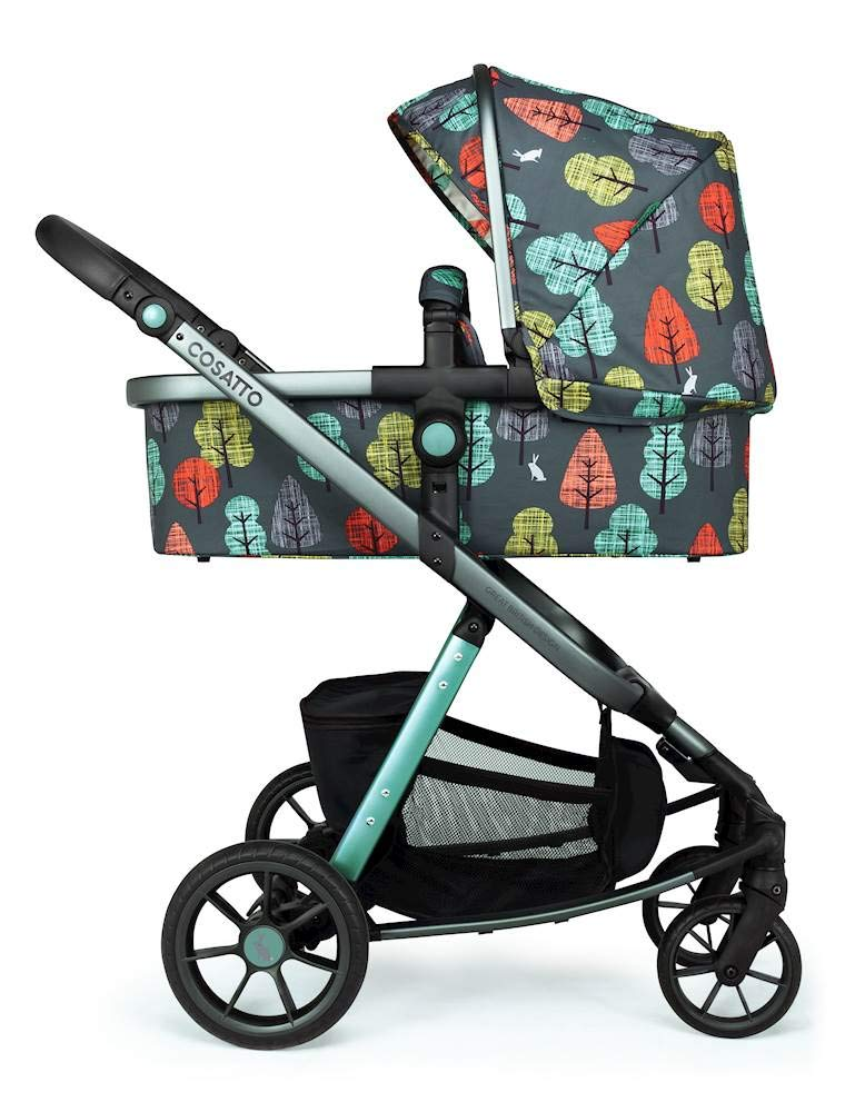 Cosatto Giggle Quad Pram & Pushchair Hare Wood Cosatto Enhanced performance. unique tyre material and all-round premium suspension give air-soft feel. Comfy all-round. spacious carrycot for growing babies.  washable liner. reversible reclining seat. Ultimate buy. tested up to a mighty 20kg for even longer use. big 3.5kg capacity basket for big shop 3