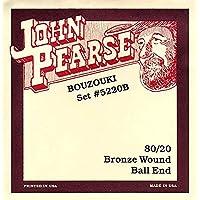 John Pearse Strings 5220B - Juego de cuerdas para buzuki (extremo de lazo)
