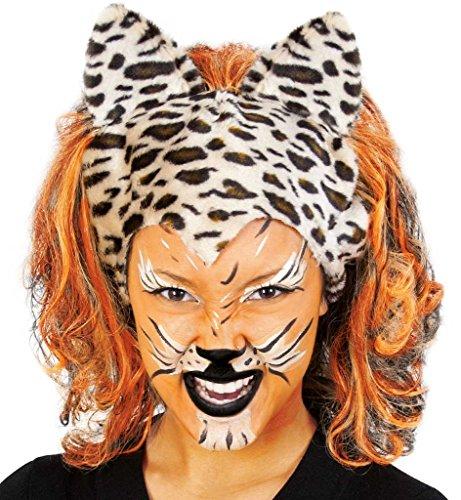 Perücke Cats Leopard Tiger Wildkatze Karneval Löwe Tierkostüm Raubkatze Raubtier Afrika
