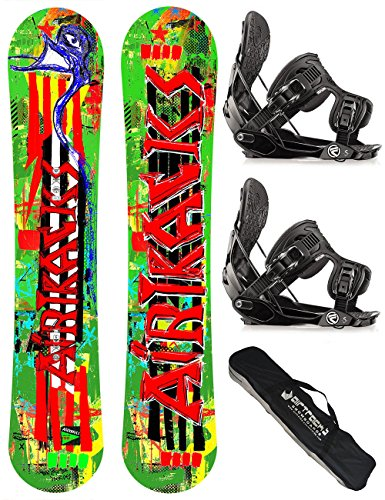 AIRTRACKS SNOWBOARD SET - BOARD ONE LINE 156 - SOFTBINDUNG FLOW FIVE L - SB BAG