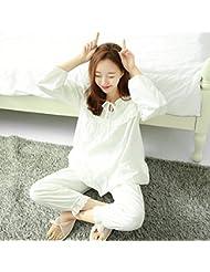 &zhou Pijamas de gran tamaño de mujer ' s juego de pijamas frescas del ocio , white , xl