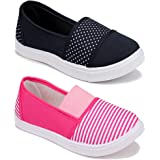 WORLD WEAR FOOTWEAR Women Multicolour Latest Collection Sneakers Shoes- Pack of 2 (Combo-(2)-11023-11032)