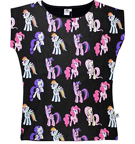 My Little Pony License Damen T-Shirt Schwarz