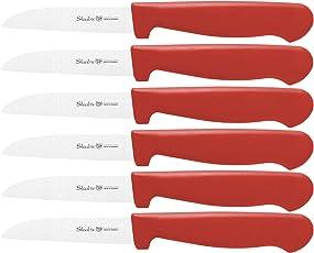 Staab's Gemüsemesser-Set 6 Stück (8cm Klingenlänge, Obstmesser/Küchenmesser, ergonomischer Griff) Made in Germany