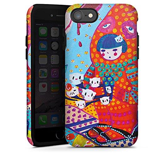 Apple iPhone X Silikon Hülle Case Schutzhülle Hase Süßigkeiten Mädchen Tough Case glänzend