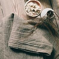 Handgemachte Gewaschene Natürliche Geschirrtücher Handtücher - 100% Leinen Flachs 35x75 cm Leinentuch Waffel Weben Küchenhandtücher Schnelltrocknend Gästetuch von Thingstore