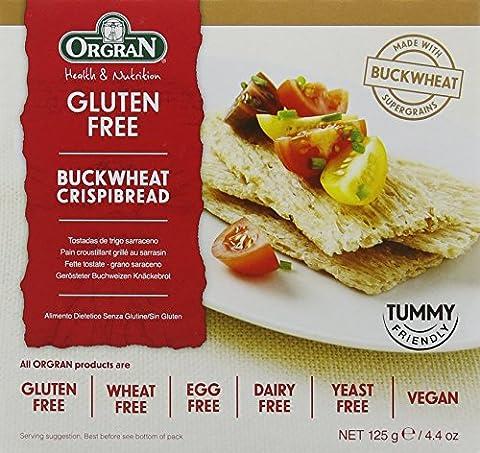 Orgran Gluten Free Buckwheat Crispbread 125 g (Pack of 3)