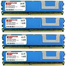 Komputerbay 16 GB (4 x 4 GB) DDR2 PC2-6400F 800MHz ECC Fully Buffered FB-DIMM (240 PIN) 16 GB w / heatspreaders