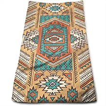 WBinHua Toallas, Ethnic Aztec Secret Tribe Pattern in Native American Bohemian Style Bath Towels for