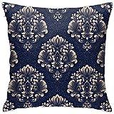 Mitta Yane Pillow Case Fundas de Almohada Throw Royal Victoriano Lana Tela Suave Cómoda Decoración Cuadrada Funda de Almohada 18 X 18 Pulgadas para Sofá Oficina