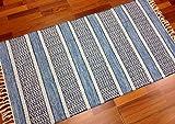 Trendcarpet Flickenteppich von Strehög of Sweden - Havtorn (blau) Größe 60 x 110 cm