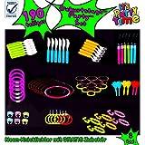 Te de Trend Glow in the Dark Party Sets Party Luz Neon Mutila Barras luminosas Cubiertos Vajilla Manualidades DIY Joyas en Nueva Calidad