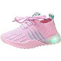 Baohooya Chaussures LED Lumineuses Enfant Bebe Garcon Fille 1-6 Ans Couleur de Bonbons Chic Mode Sneaker Baskets LéGèRe…