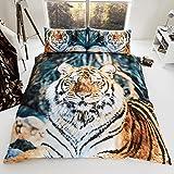 Tiger-Piumino selvatici, a forma di cuore, con stampa tigre 3D @-Set di biancheria da letto con federe & gli amanti degli animali farà impazzire questi bellissimi Set copripiumino da Gaveno La tigre è Cavailia. nell'immagine qui nella sua...