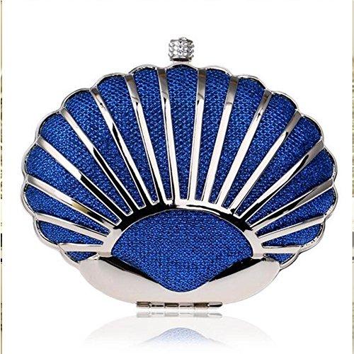 NAOMIIII Frauen Hohle Heraus Abend-Partei-Braut-Abschlussball-Handtasche Blue