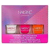 Colección NAILS INC Nail Polish neón, Trio–Pack de 3