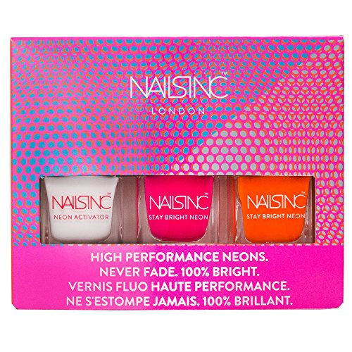 Nails Inc Vernis à ongles Néon, TRIO Collection – Lot de 3