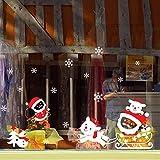 About1988 Weihnachten Aufkleber, Weihnachtsrotwild, Alter Mann, Schneemann, Baum Wandaufkleber Dekoration Aufkleber für Vitrine Fensterdeko Set Selbstklebend PVC 25 * 35cm