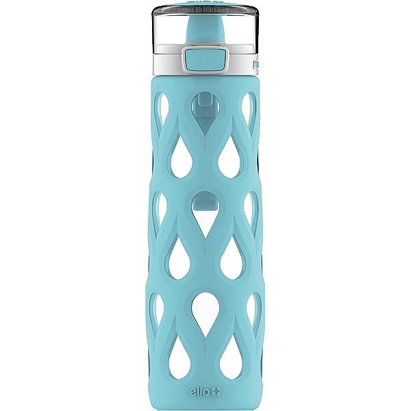 Ello Gemma 22oz Glass Water Bottle with Soft Straw