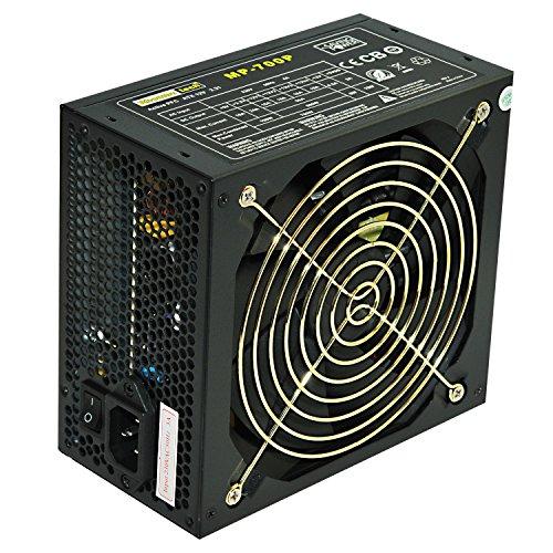 Rhombutech® 700 Watt PC-Netzteil ATX - Gaming - Saving Power - Effizient bis zu 84% - Aktiv PFC - 140mm kugelgelagerter Lüfter (MP-700)
