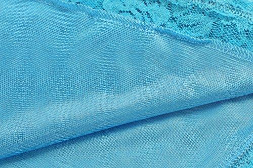 HOTOUCH Damen Umstandskleid Maternity Kleid Jerseykleid Schwangerschafts Kleid Spitzenkleid Tank Kleid Empire Kleid Spitzen Ärmellose Rundhals Typ2-Himmelblau mit Gürtel